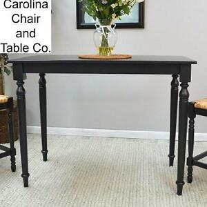 NEW* CAROLINA COTTAGE PUB/BAR TABLE ANTIQUE BLACK FINISH - HAWTHORNE 105253362