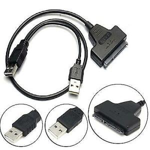 "For sell SATA 7+15 Pin 22Pin to USB 2.0 Cable Adapter For 2.5"" L"