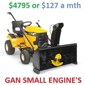 CUB CADET RIDER AND SNOW BLOWER ATTACHMENT $127 a mth