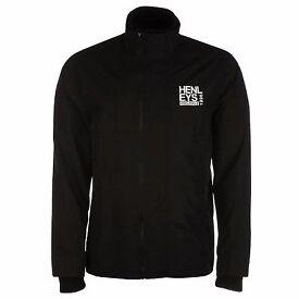 Henleys Men's Lightweight Rain Wind Jacket Black, Small
