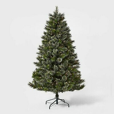 6ft Pre-lit Traditional Artificial Christmas Tree Virginia Pine Clear Lights - W