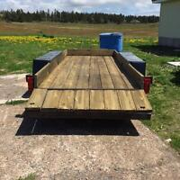 two axle flat bed trailer