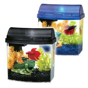 Aqueon Mini-bow aquarium 1 gallon used - black includes filter a