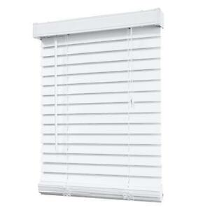 5 used White Faux Wood Blinds, different sizes, great cond,$20EA