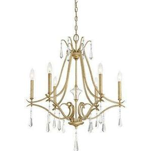 Dowden 6-Light Crystal Chandelier by House of Hampton NEW