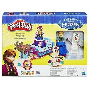 NEW: OPENED BOX Play-Doh Frozen Sled Adventure Playset