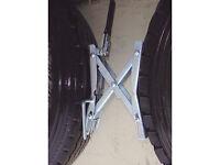 Ultra Tow Caravan, motorhome RV Twin Wheel Trailer Security Chock / Lock Clamp Heavy Duty Brand New