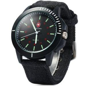 SWISS ARMY Men's Round Dial Dual Military Analog Quartz Watch
