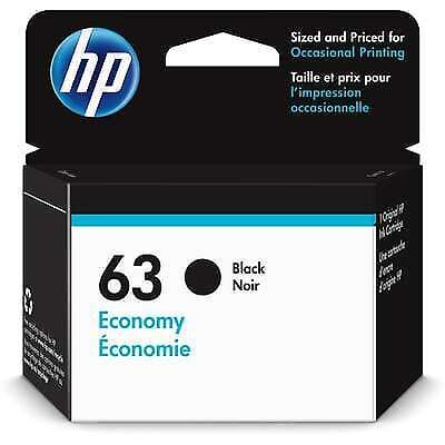 HP 63 Economy Black Original Ink Cartridge - Free Next Business Day Delivery - Hp 63 Black Ink Cartridge