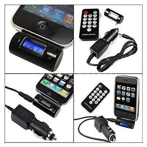 FM Transmitter + Car Charger + Remote for iPod, iTouch & iPhones
