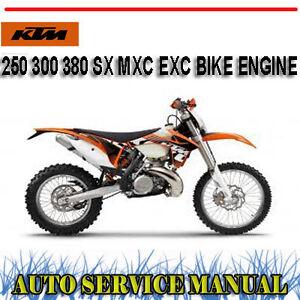 ktm 250 300 380 sx mxc exc bike 1999 2010 engine workshop. Black Bedroom Furniture Sets. Home Design Ideas