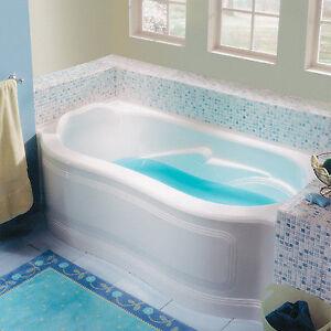 Alcove Bathtub, Left Hand Drain, White