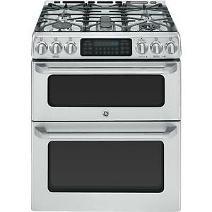GE Cafe DOUBLE OVEN GAS CONVECTION SELF CLEANING Stove