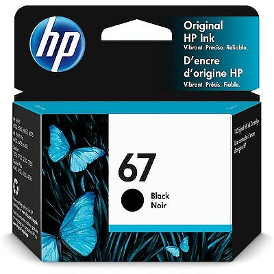 HP 67 Original Ink Cartridge, Black