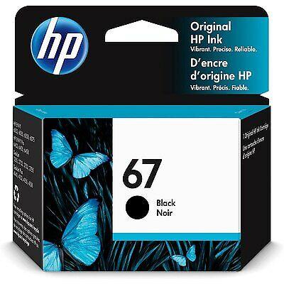 HP 67 Original Ink Cartridge, Black (3YM56AN)
