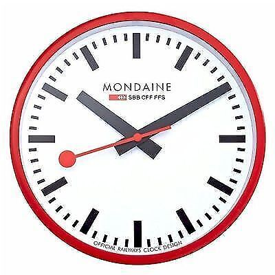 Die Big Swiss Railway Clock Wanduhr