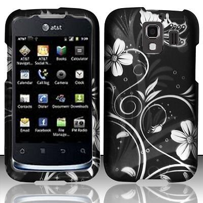 - Design Rubberized Hard Case + Stylus for Huawei Fusion II U8665 - White flower