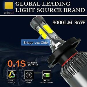 Brighten up your nights! LED headlight bulb 8000 lumens 72W