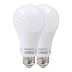 2x10w A19 dimmable LED bulbs = 60W traditional one