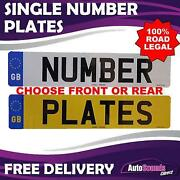 Road Legal Number Plates