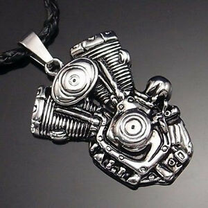 Harley motor silver pendant...
