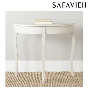 NEW SAFAVIEH WHITE CONSOLE TABLE SEMA ANTIQUE WHITE 105916994