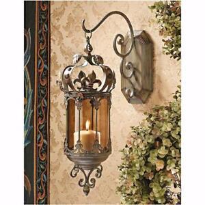 Crown Royale Hanging Pendant Lantern by Design Toscan ( SET OF 2) NEW