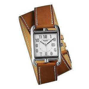 ladies gold plated hermes kelly ladies lock watch