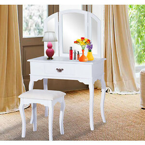 Classic Vanity Makeup Table w/ Stool / Dressing table / Dresser