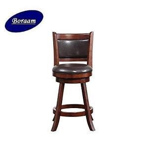 NEW BORAAM SWIVEL COUNTER STOOL - 108019423 - RHEA - 24'' - HAZELNUT