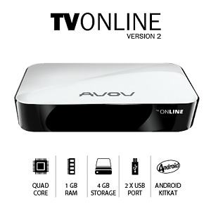AVOV TV Online Version 2 IPTV Android Box with Kodi