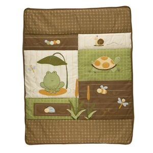 NoJo Froggy Friends crib bedding set complete with mobile Peterborough Peterborough Area image 2
