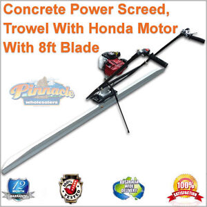 HONDA CONCRETE POWER SCREED,TROWEL WITH HONDA MOTOR WITH 8FT BLADE MAGIC TO USE