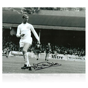 LEEDS UNITED Signed JACK CHARLTON Action Photo