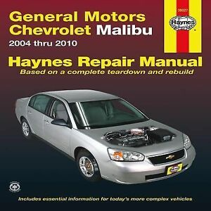 2004 2010 haynes chevrolet malibu repair manual 1563928957 ebay. Black Bedroom Furniture Sets. Home Design Ideas