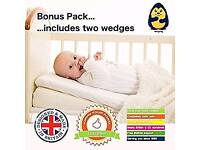 Wedgehog wedges for carrycot, cribs or prams