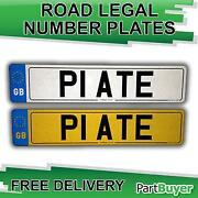 Number Plates Pair