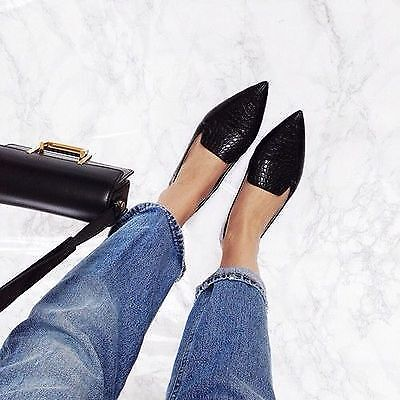 Shiny Sleek Pantent Pointed Toe Loafers