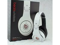 Beats Wireless Headphones New! - White - Original Design by Dr Dre Studio