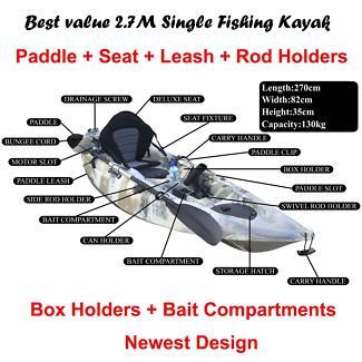 Inverell kayaks 2.7M fishing kayak package