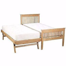 Single oak guest bed (John Lewis)