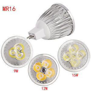 Cree Dimmable MR16 9W LED Spotlight Bulb COB/Epistar Lamp