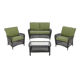 4 piece martha stewart outdoor couch conversational set