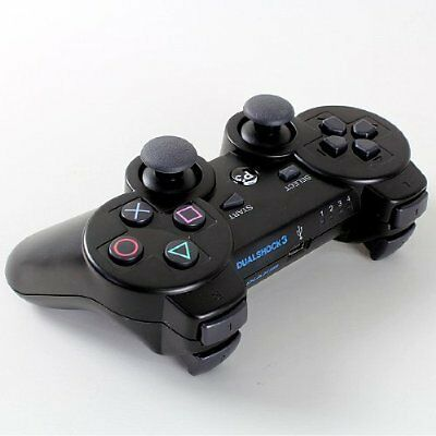 Black Wireless Bluetooth DualShock SIXAXIS Game Controller for Playstation3 PS3 on Rummage