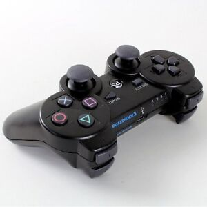 Black Wireless Bluetooth DualShock SIXAXIS Game Controller for Playstation3 PS3
