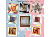 Peronalised themed frames