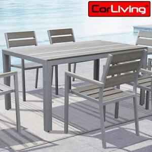 NEW CORLIVING OUTDOOR DINING CHAIR - 133054413 - GALLANT SUN BLEACHED GREY