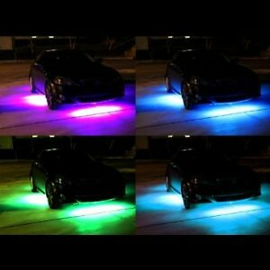4pcs-7-Colors-LED-Under-Car-Glow-Underbody-System-Neon-Lights-Strip-Kit-Remote