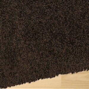 Shag Rug - chocolate brown, 6x9 feet