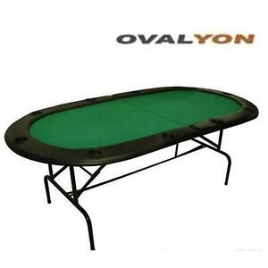 USED* OVALYON FOLDING POKER TABLE FOR UP TO 10 PLAYERS 109138181